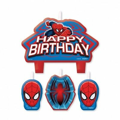 4 Ultimate Spider Man Happy Birthday Cake Candles