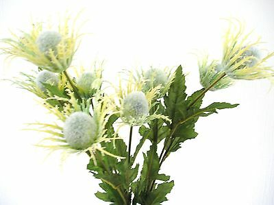 Silk thistle flower thistle purple with 1 head for scottish bouquets quality artificial silk flowers cream green globe thistle bomb x 3 stems mightylinksfo