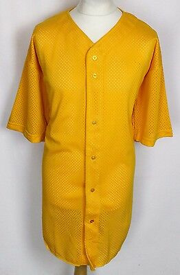 Vintage Baseball Jersey Shirt Mens Xxl Fox Athletic Yellow