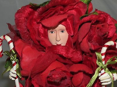"""Dept 56 Krinkles Rose Bouquet Doll 21"""" Tall Patience Brewster Christmas Retired"""