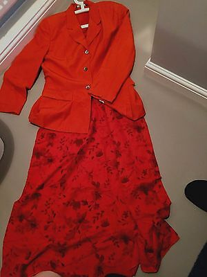 Laura Ashley Mother of the Bride Outfit Dress Size 18 and Jacket size 16