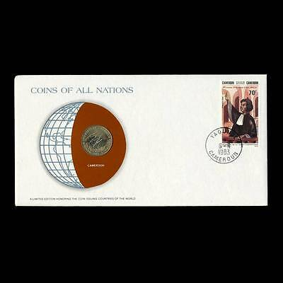Cameroon 10 10F Francs 1983 Fdc Coins Of All Nations Uncirculated Stamp Cover