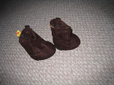 BUILD A BEAR Brown faux suede Cowboy COWGIRL boots