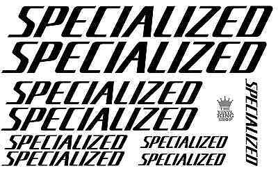 9 x Specialized Vinyl Decal Stickers Bike Frame Cycle Bicycle 18 Colours MTB
