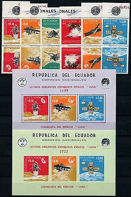 Raumfahrt Space 1966 Ecuador Mond Satelliten 1301-1306 + Block 33-34 MNH/994