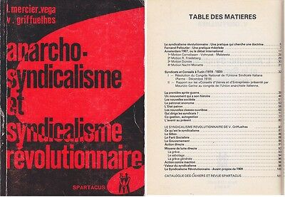 C1 ANARCHO SYNDICALISME ET SYNDICALISME REVOLUTIONNAIRE Spartacus 1978 Anarchie