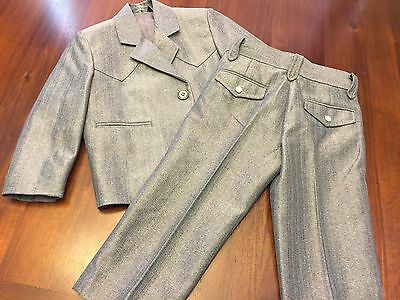 Cowboy Dressy Buffalo Country Boys Two Piece Gray Western Suit Size 2T
