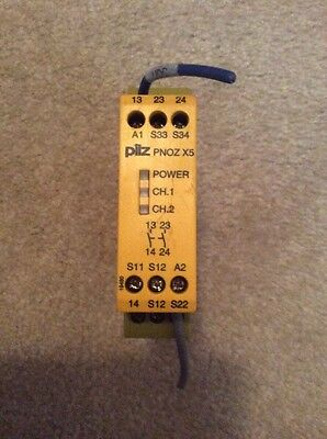 PILZ PNOZ X5 24VACDC 2n/o SAFETY RELAY