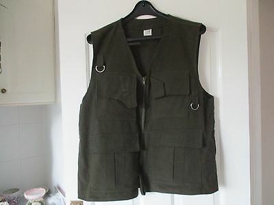 Fly Fishing Vest    Moleskin    Green  Large 46''
