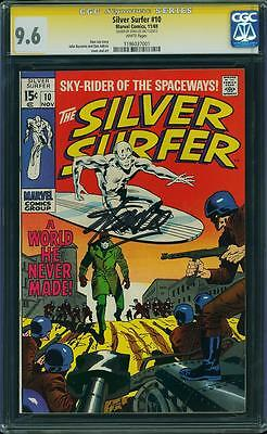 SILVER SURFER #10 CGC 9.6 SS STAN LEE! HIGHEST GRADED 1 OF 2! White Pages!