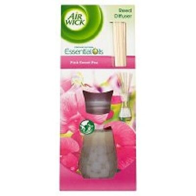 Air Wick Reed Diffusers 4 x PINK SWEET PEA essential oils range