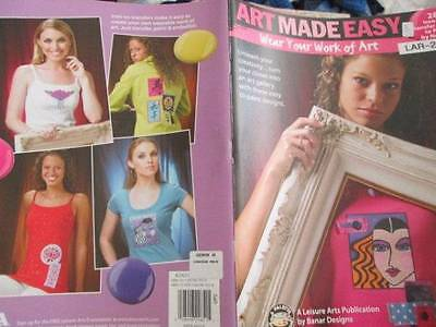 Art Made Easy-Wear Your Work Of Art Painting Book-28 Iron On Transfer Designs