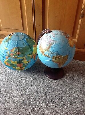 world globe lamp and shade for boys bedroom