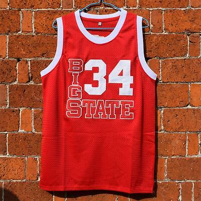 Jesus Shuttlesworth #34 Big State He Got Game Basketball Red Stitched Jersey