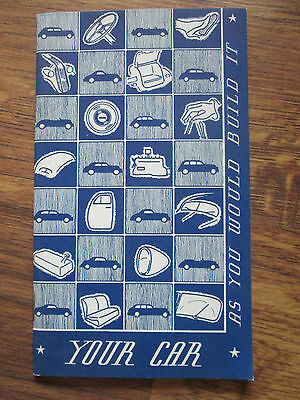 Vintage 1936 GM Customer Research Booklet Customer Questionnaire 23 Pages