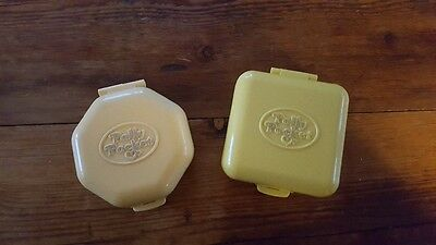 TWO POLLY POCKET Midge's Play School Nursery Compact 1989 and Hairdressing Salon