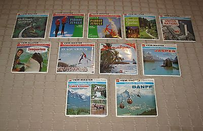 Vintage Gaf View-Master Reels Pack Lot of 11 Differents   FREE SHIPPING