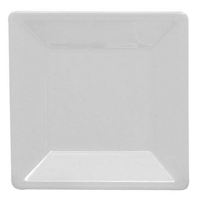 """Thunder Group 1 Each 13-3/4"""" Square Melamine Plate Passion White, Nsf - Ps3214W"""