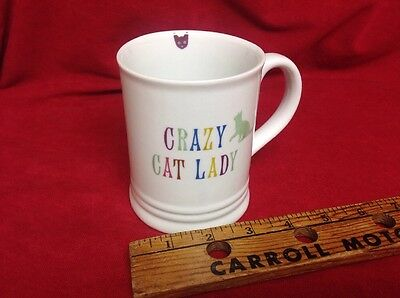 Crazy Cat Lady White Coffee Mug FRINGE Studio Microwave Dishwasher Safe Safe