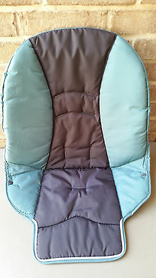 NEW Graco DuoDiner High Chair Seat Pad Cushion Blue Boden