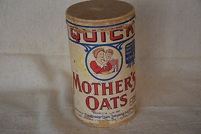 Mother's Quick Oats Cardboard Cereal Box  CIRCA 1955
