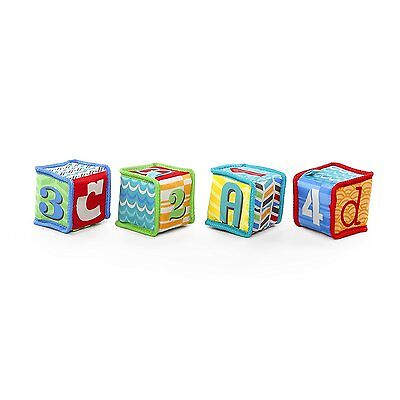 Grab & Stack Block Toy Bright Starts Soft Baby Toy Cute Soft Blocks 3D Features