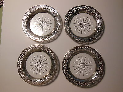 Lot of 4 - Antique Vintage Sterling Silver Tiffany & Co Coasters Cup Wine Glass