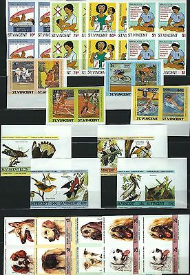 Grenadines St. Vincent Bequia  Imperforated Souvenir Sheets and Stamps