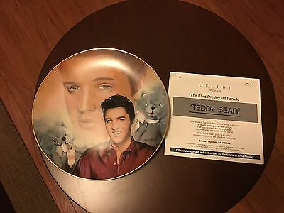 The Elvis Presley Hit Parade Collection # 6 Teddy Bear Plate by Nate Giorgio