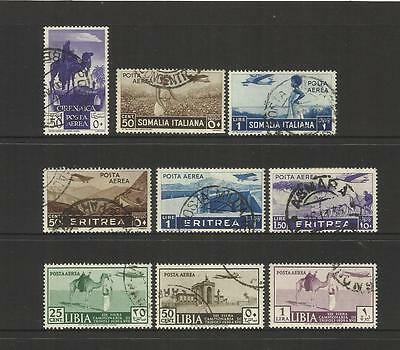 ITALY ITALIA ~ 1930s AFRICAN COLONIES AIR MAIL (SMALL LOT POSTALLY USED)