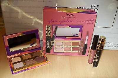 Tarte ' glam goodies ' 3 piece deluxe set includes tartelette tease new & boxed