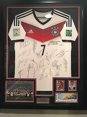 2014 FIFA World cup Team Germany Squad signed jersey framed Muller, Klose