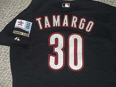 Tamargo sz 46 #54 2000 Houston Astros Game Used Jersey Home Black Enron patch