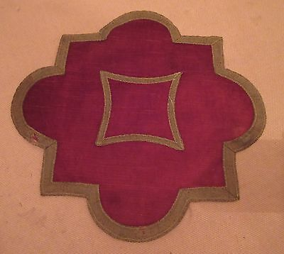 antique handmade marron velour metal gold trim centerpiece center table mat