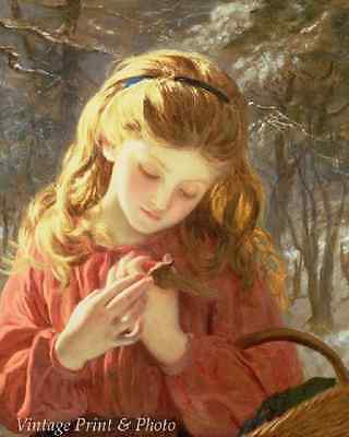 A Girl Crocheting by Sophie Anderson Little Child Needlework 8x10 Art Print 0502