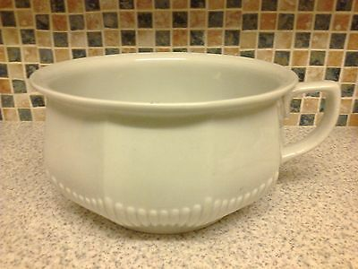 Adams Chamber Pot White With Line Design On The Bottom Half