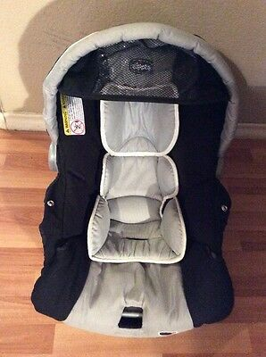 CHICCO Keyfit 30 Infant Car Seat Cushion Cover Canopy Body  Silver And Black
