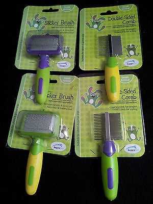 Happypet Small Animal Grooming-Slicker Brushes & Double Sided Combs
