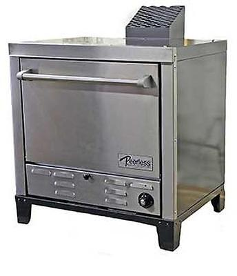 "Peerless Ovens Counter Top Gas Pizza Oven w/ Four 24x19"" Stone Hearth Decks"