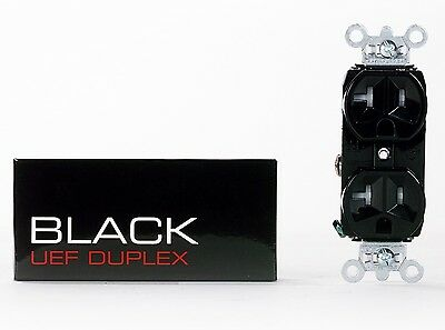 NEW! Synergistic Research  BLACK UEF Duplex - NEW state-of-the-art AC receptacle