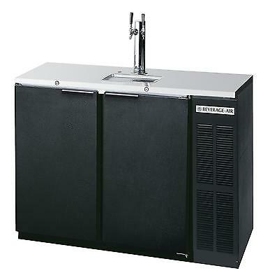 Beverage-Air DD48Y-1-B 12.4 CuFt Two Keg Direct Draw Shallow Depth Beer Cooler