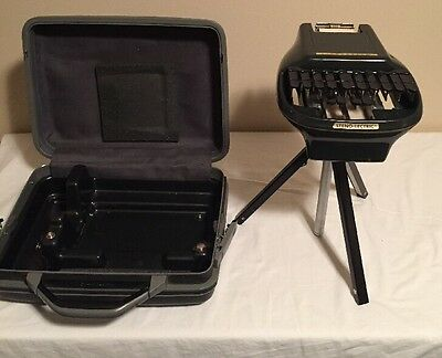 STENOGRAPH STENO-LECTRIC Dictation Machine Reporter Court Room Shorthand record