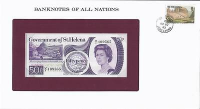 Banknotes of All Nations, St. Helena 1979 50 Pence, P5a , Uncirculated