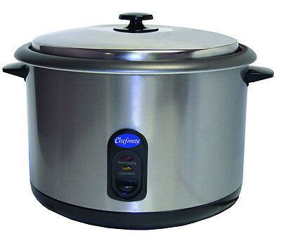 Globe RC1 25 Cup Chefmate Counter-Top Rice Cooker or Warmer 1600w