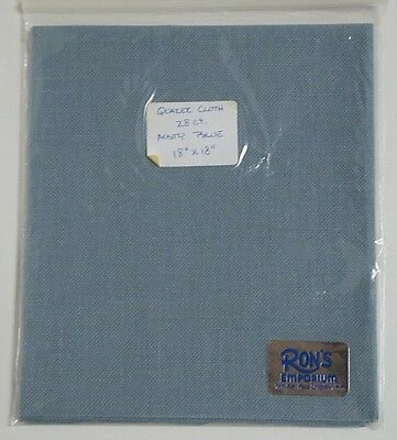 "Vintage Quaker Cloth 28 Count Misty Blue Cross Stitch Fabric 18""X18"""
