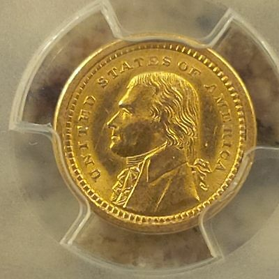1903 Gold $1 LA Purchase Jefferson (Key Date ) only 17,500 Minted UNC condition