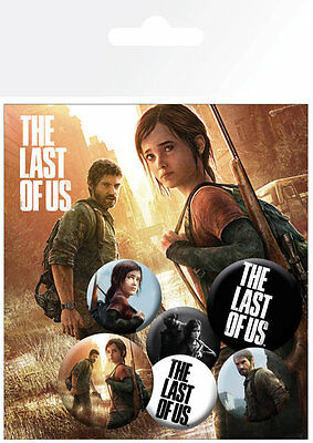 The Last Of Us Ellie and Joel Badge Pack / Pin Set BRAND NEW