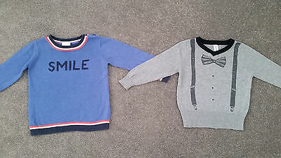 SoSooki & Seed Baby Toddler Boys Knit Jumpers Lot Size 1 12-18Months Winter Top