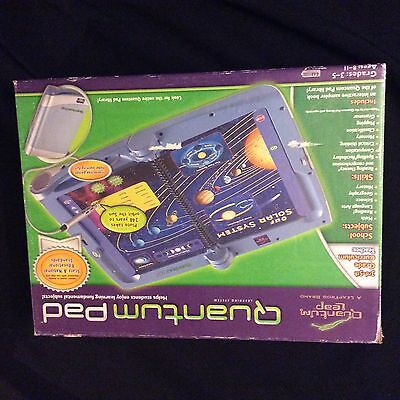 QUANTUM PAD LEARNING SYSTEM LEAP FROG LEAP PAD LEAPPAD NEW W/extras