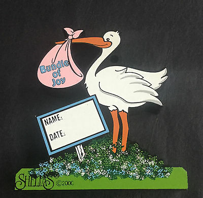 STORK YARD SIGN ACC18 Shelia's MINT Made in Charleston SC HARD TO FIND